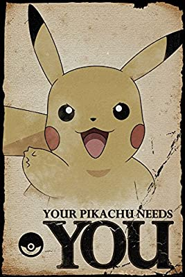 GB Eye LTD, Pokemon, Pikachu Needs You, Poster 61 x 91,5 cm ...