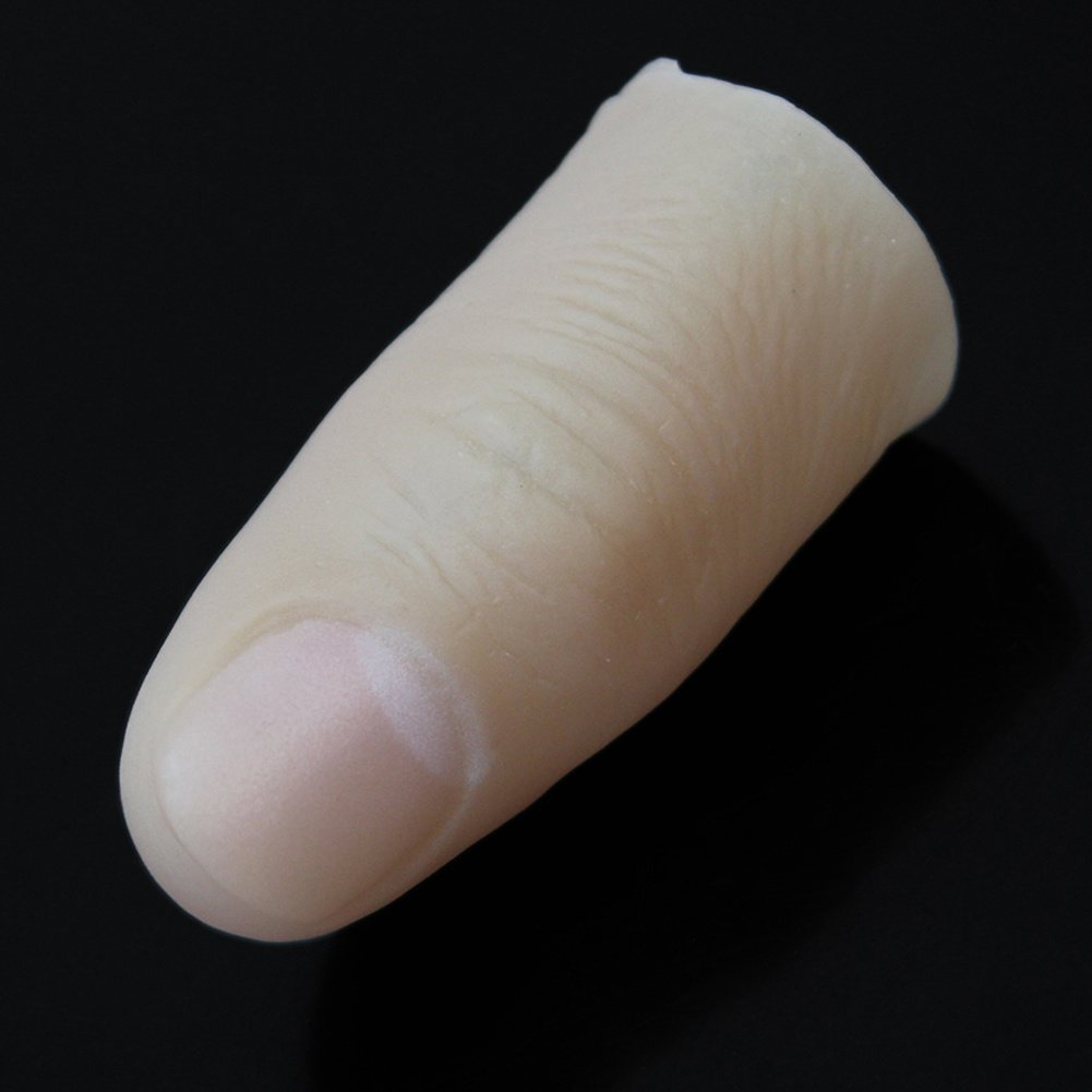 High Quality Fake Thumb Finger Toy Plastic Magic Trick Joke Prank Gadget 55x23mm