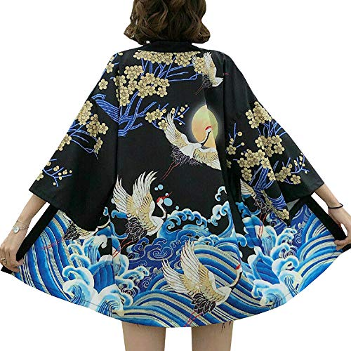 Women Japanese Kimono Cardigan Coat Yukata Outwear Tops Vintage Japanese Style