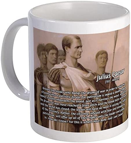 CafePress Julius Caesar Quotes Mug Unique Coffee Mug Coffee Cup
