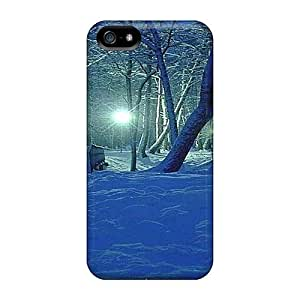 ChrisHuisman Iphone 5/5s Well-designed Hard Cases Covers Blue Snow Protector