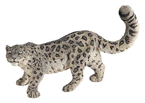 Papo Wild Animal Kingdom Figure, Snow Leopard (Statues Leopard)