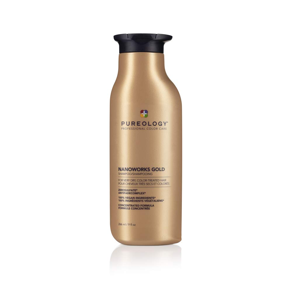 Pureology Nano Works Gold Cleansing Shampoo | Youth-Renewing Formula for Color Treated Hair | Sulfate-Free | Vegan