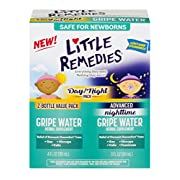 Little Remedies Dual Daytime & Nighttime Gripe Water Herbal Supplement, 7 Ounce, 2 Bottle Value Pack Treats Symptoms for Gas, Colic, Hiccups & Fussiness, Day or Night!