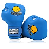 Cheerwing PU Kids Children Cartoon Sparring Dajn Boxing Gloves Training Age 5-10 Years (Blue)