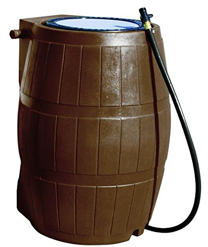 Yimby Flat Back Rain Barrel - 50 Gallon - (Barrel Rain Wooden)