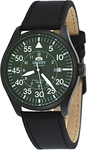 Orient Automatic 21 Jewels - Orient 21-Jewel Automatic Aviator Flight Watch with Black Leather Strap ER2A002F