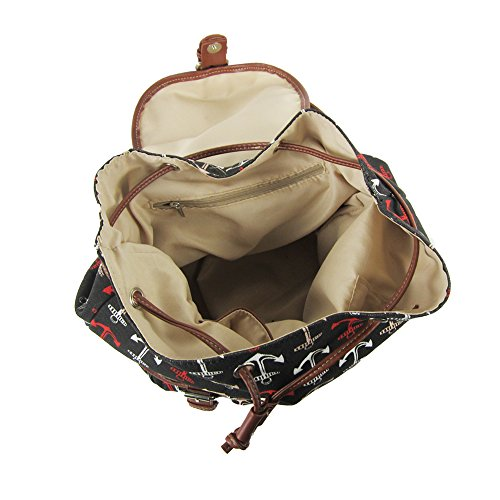 Craze London - Bolso mochila  de Lona para mujer turquesa