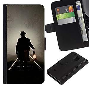 All Phone Most Case / Oferta Especial Cáscara Funda de cuero Monedero Cubierta de proteccion Caso / Wallet Case for Samsung Galaxy S5 Mini, SM-G800 // Lantern Oil Light Night Mysterious