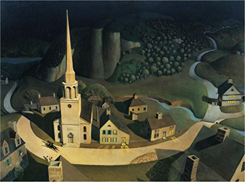 Grant Wood Prints - The Midnight Ride of Paul Revere : Grant Wood : circa 1931 : Fine Art Print