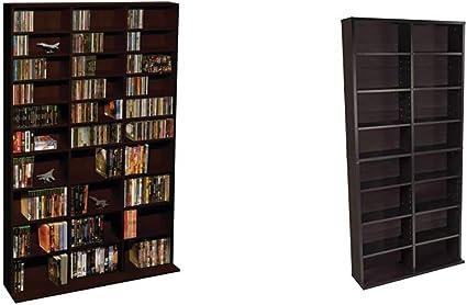 228 DVDs or 276 Blu-Rays Holds 1080 CDs 504 DVDs or 576 Blu-Rays//Games /& Oskar Adjustable Media Cabinet Atlantic Oskar Adjustable Media Wall-Unit Holds 464 CDs
