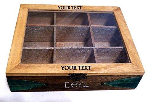Holz Tee Box, Teebeutel-Box, Tee-Geschenk-Kasten, Rustic Tea Box, Teedose, Tee-Container, graviert Tea Box aus Holz, Box Tee, Tee-Halter