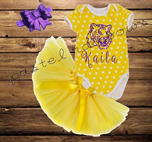 LSU TIGERS Tutu-Personalized Baby Tutu-LSU Baby Girl Outfit
