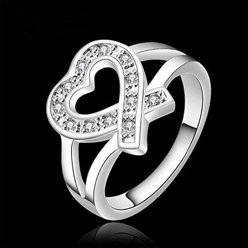 Bague coeur cristaux swarovski elements argent 925