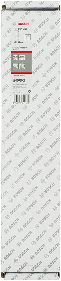 Blu 2608601367 1 1//4UNC best for concrete 450 mm Bosch di perforazione Corona diamantata per lacqua 11,5 mm 9 segmenti