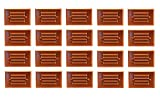 20 Pack Malibu 8421-2401-20 LED Half Brick Outdoor Deck Step Light Copper Finish BY MALIBU DISTRIBUTION