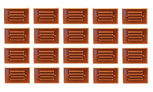 20 Pack Malibu 8421-2401-20 LED Half Brick Outdoor Deck Step Light Copper Finish BY MALIBU DISTRIBUTION by Malibu