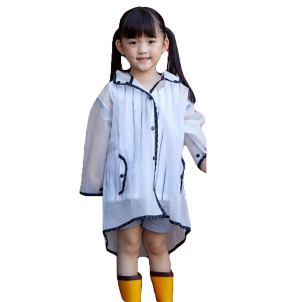 Poncho antipioggia per bambini con cappuccio. Materiali di protezione ambientale EVA. Impermeabile da montagna per ragazze 1-10 anni