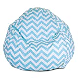 Majestic Home Goods Tiffany Blue Chevron Small Bean Bag