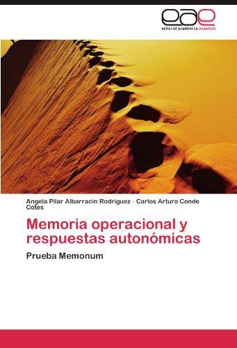 Memoria operacional y respuestas autonmicas: Prueba Memonum (Spanish Edition)