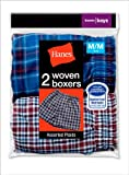 Hanes Boys Red Label Woven Tartan Boxer 2 Pack # B841FF