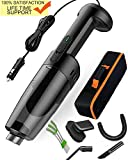 Innovational Lightweight Car Vacuum Cleanner 33000r/min Hurricane's Superisingly Strong Suction Handheld Portable Corded Wet-Dry -6pc Free attachments + HEPA Washable Filter