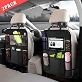 Carisma Car Backseat Organizer with Touch Screen Tablet Holder +Storage Pockets Kick Mats
