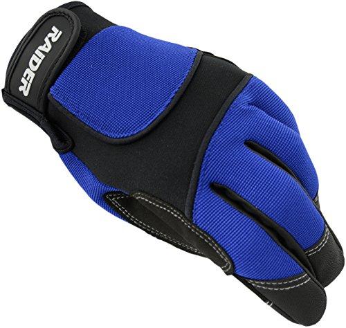 Raider Unisex-Adult MX Gloves (Blue, Large)