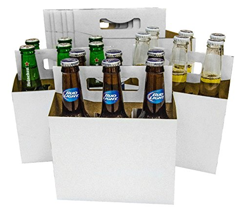 150 6 Pack Beer Bottle Holder that fits 12-16oz bottles Sturdy Cardboard Holds six bottles
