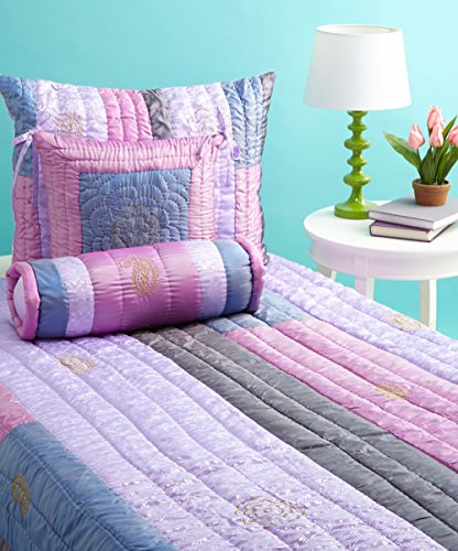 Bacati - Jaipuri Purple & Pink Full/queen Quilt Bedding Set