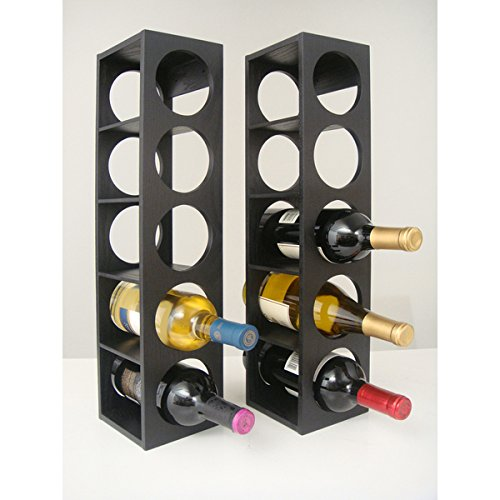 Rutherford Wine Rack (set of 2) (Black) by Proman