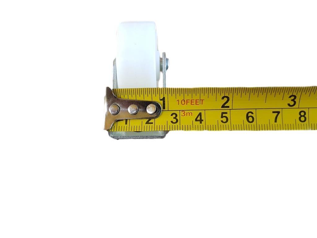 Rueda de pl/ástico giratoria de 40 mm con doble rueda met/álica con placa para muebles y equipo peque/ño mini ruedas