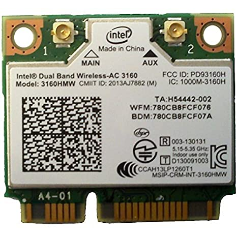 Intel 3160.HMWWB.R - Adaptador para Bluetooth Dual Band WiFi AC 3160