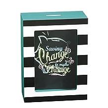 Cypress Home Make a Change Wooden Shadow Box Bank