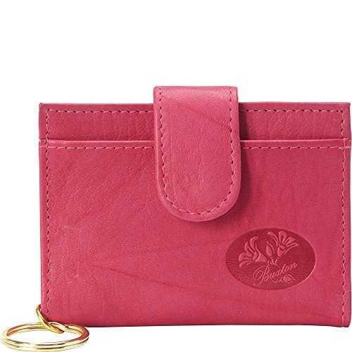 Buxton Heiress Pik-Me-Up Tab Card Case (Fuchsia Pink)