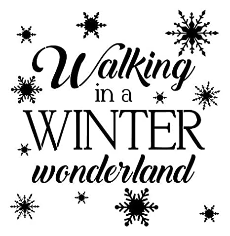 Walking In A Winter Wonderland Christmas Vinyl Decal Wall Decor Stickers Letters