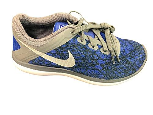 Nike Free Rn (Gs), Zapatillas de Gimnasia para Niñas Cool Grey/Metallic Silver