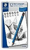 Staedtler Mars Lumograph Art Drawing Pencils, 12