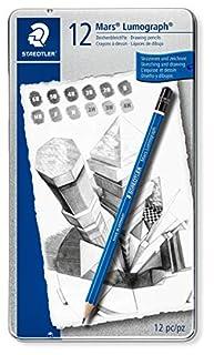 Staedtler Pencil Mars Lumograph, 12 Pieces Set (100 G12) (B0014E2S0Q) | Amazon price tracker / tracking, Amazon price history charts, Amazon price watches, Amazon price drop alerts