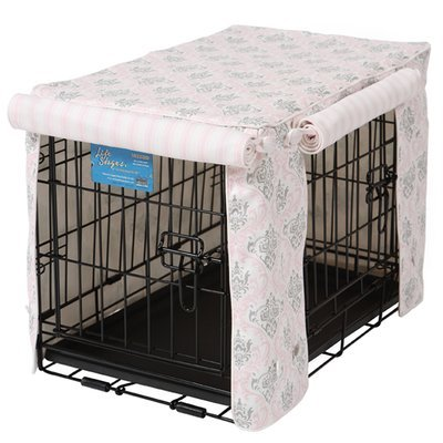 Crate Covers and More Double Door 42 Pet Crate Cover, Madison Bella Twill with Hayes Stripe by Crate Covers and More