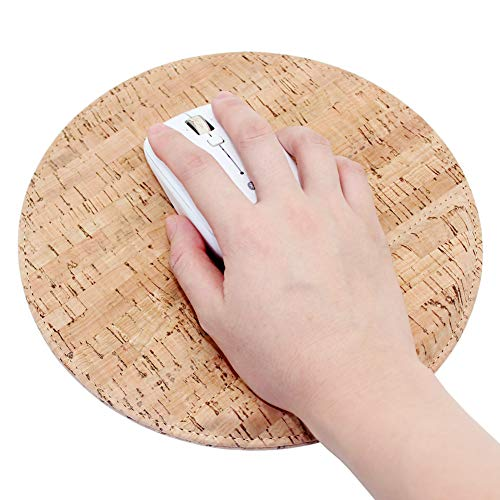 Mouse Pad, Boshiho Eco-Friendly Natural Cork Small Mouse Pad with Wrist Support (Cork)