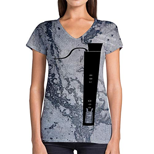 Idakoos Instruments Dulcian 3D - Women V-Neck T-Shirt Polyester Novelty
