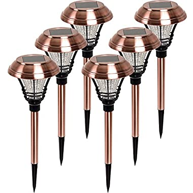 Westinghouse Kenbury LED Outdoor Garden Solar Path Lights (Copper, 6 Pack)