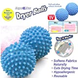 2Pcs Dryer Ball Washing Laundry No Chemicals Soften Cloth Drying Fabric Softener // 0