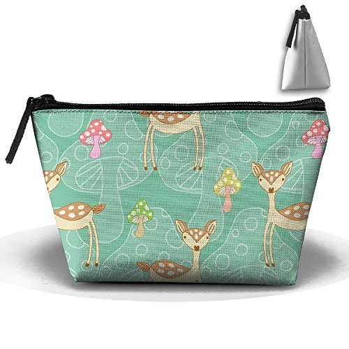 Adorable Deer Animal Travel Cosmetic Bag Pencil Case Pouch Make Up Box For Girls