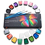 Face Paint Kit – Body Paint Set – Non-Toxic & Hypoallergenic – Halloween Makeup Kit – Easy to Apply & Remove – Professional Face Painting Kit for Kids & Adults