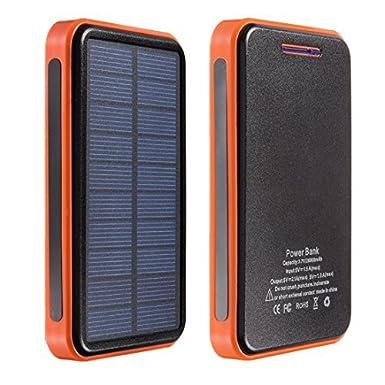 DealMux Cargador Solar, cargador solar Power Bank 10000 mAh ...