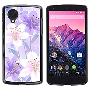 Stuss Case / Funda Carcasa protectora - When Lily Flowers Are Happy - LG Nexus 5 D820 D821