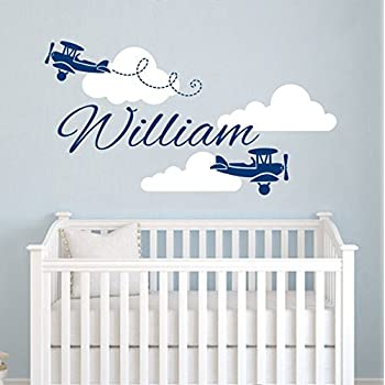 Amazoncom Plane Name Wall Decal Clouds Vinyl Sticker - Personalized custom vinyl wall decals for nursery
