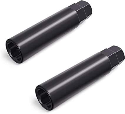 IRONTEK 6 Point Spline Tuner Socket Key Tool for Six-Spline Drive Socket Lug Nut Tool Key Replacement 17.6mm Inner Diameter Compatible with 19mm Hex Lug Nuts 13//16 3//4 /& 21mm